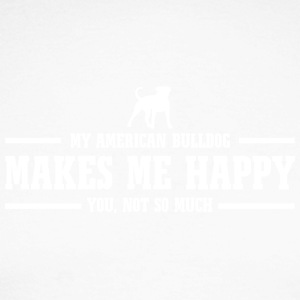AMERICAN BULLDOG makes me happy - Männer Baseballshirt langarm
