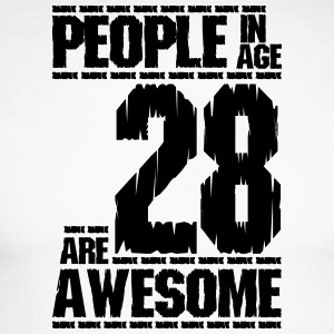 PEOPLE IN AGE 28 ARE AWESOME - Men's Long Sleeve Baseball T-Shirt