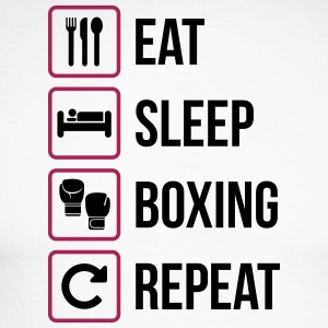 Eat Sleep Boxing Repeat - Maglia da baseball a manica lunga da uomo