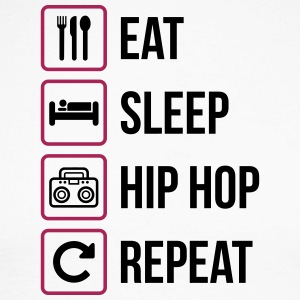 Eat Sleep Hip Hop Repeat - Maglia da baseball a manica lunga da uomo
