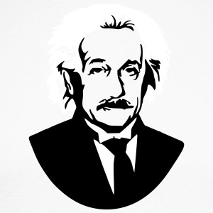 Albert Einstein Genius bust picture graphic - Men's Long Sleeve Baseball T-Shirt