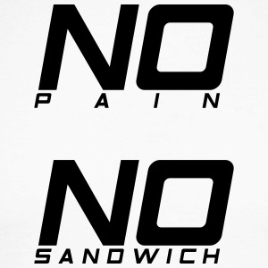 No pain no sandwich - Men's Long Sleeve Baseball T-Shirt