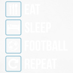 Eat Sleep Football Gjenta - Langermet baseball-skjorte for menn