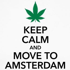 keep calm move to Amsterdam Holland Cannabis Weed - Männer Baseballshirt langarm