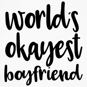 World's okayest boyfriend - Men's Long Sleeve Baseball T-Shirt