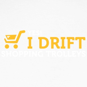 Yes! I Drift With Shopping Cart In The Supermarket - Men's Long Sleeve Baseball T-Shirt