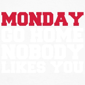 Monday nobody likes you - Men's Long Sleeve Baseball T-Shirt