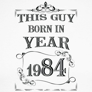 this guy born in year 1984 black - Men's Long Sleeve Baseball T-Shirt
