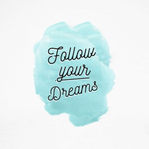 Follow Your Dreams - Miesten pitkähihainen baseballpaita