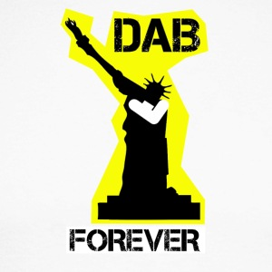 DAB FOREVER STATUE OF YELLOW Liberty- - Men's Long Sleeve Baseball T-Shirt