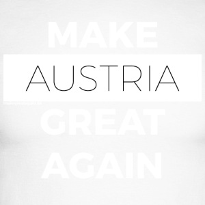 MAKE AUSTRIA GREAT AGAIN white - Men's Long Sleeve Baseball T-Shirt