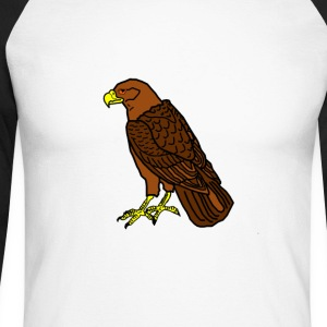 sitting raptor - Men's Long Sleeve Baseball T-Shirt