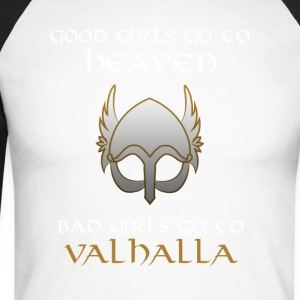 Bad Girls Go to Valhalla - Men's Long Sleeve Baseball T-Shirt