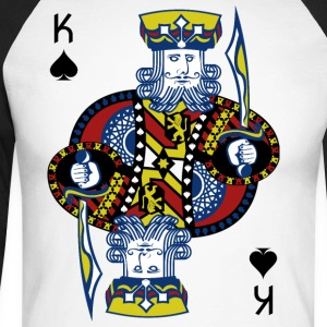 King of Spades Poker Hold'em - Men's Long Sleeve Baseball T-Shirt