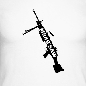 M249 SAW light machinegun design - Men's Long Sleeve Baseball T-Shirt
