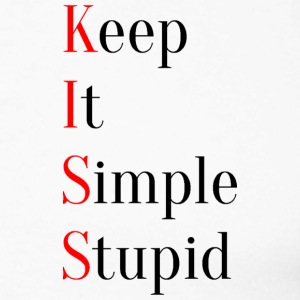 KISS - Keep It Simple Stupid - Männer Baseballshirt langarm