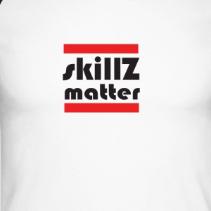 SkillZ matter - Men's Long Sleeve Baseball T-Shirt