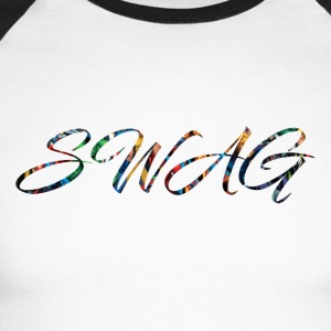 Texte 'Swag' - T-shirt baseball manches longues Homme