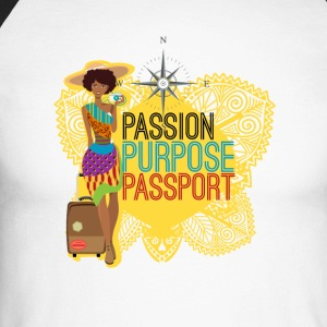 Passion, Purpose,Passport - T-shirt baseball manches longues Homme