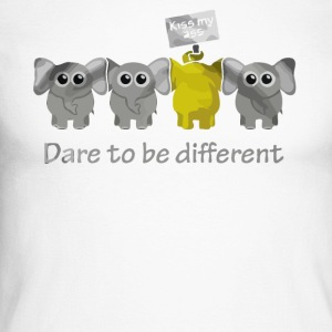 Elephant dare to be different - Men's Long Sleeve Baseball T-Shirt