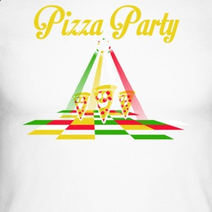 Pizza Party - Mannen baseballshirt lange mouw