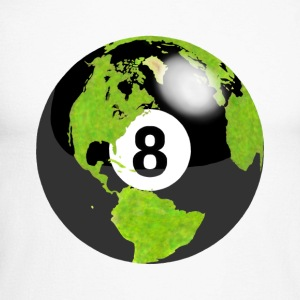 8-ball globe planète terre terre globe - T-shirt baseball manches longues Homme
