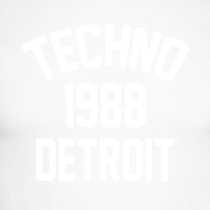 Techno 1988 Detroit - Langermet baseball-skjorte for menn
