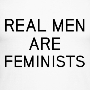 real_men_are_feminists - Langermet baseball-skjorte for menn