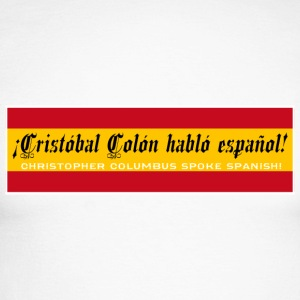 Christopher Columbus Spoke Spanish! - Miesten pitkähihainen baseballpaita