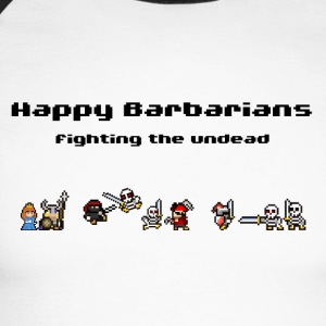 Happy Barbarians - Fighting the undead - Men's Long Sleeve Baseball T-Shirt