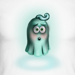 Little Turquoise Ghost - Men's Long Sleeve Baseball T-Shirt