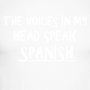 The voice in my brain speaks Spanish - Men's Long Sleeve Baseball T-Shirt