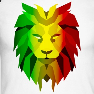 Rasta Lion - Langermet baseball-skjorte for menn