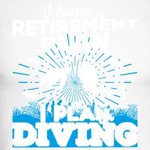 Retirement plan diving (light) - Men's Long Sleeve Baseball T-Shirt