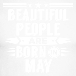 Beatiful people born in may - T-Shirt - Männer Baseballshirt langarm