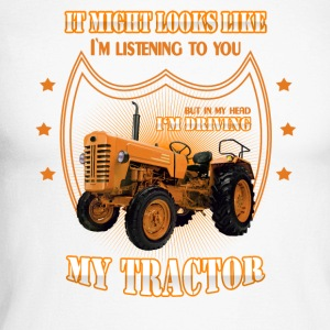 In my head I 'm driving my TRACTOR Trekker tractor - Men's Long Sleeve Baseball T-Shirt