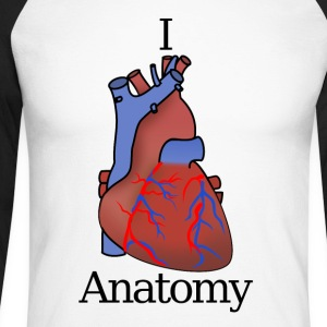 I Heart Anatomy B - T-shirt baseball manches longues Homme