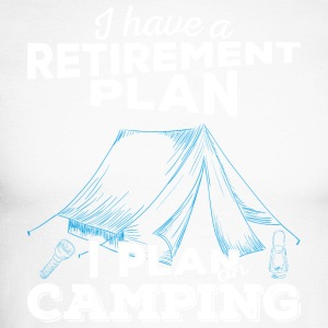 Retirement plan camping (light) - Men's Long Sleeve Baseball T-Shirt