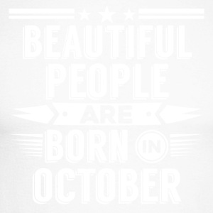 Beatiful people born in October - T-Shirt - Men's Long Sleeve Baseball T-Shirt