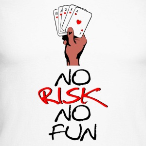No Risk NO Fun - Men's Long Sleeve Baseball T-Shirt