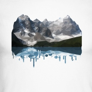 Mountains Low Poly - Men's Long Sleeve Baseball T-Shirt