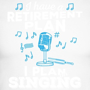Retirement plan singing (light) - Men's Long Sleeve Baseball T-Shirt