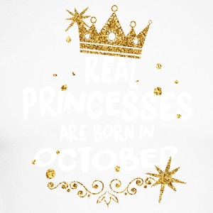 Real princesses are born in October! - Men's Long Sleeve Baseball T-Shirt