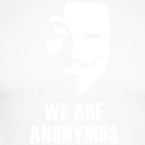 anonymus we are mask demonstration white revolutio - Männer Baseballshirt langarm