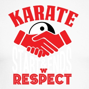 Karate Respect - Men's Long Sleeve Baseball T-Shirt