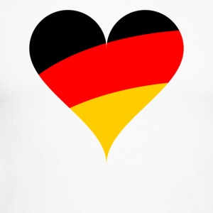 heart Germany - Men's Long Sleeve Baseball T-Shirt