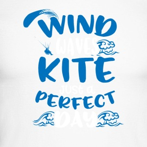 Wind Waves Kite Just A Perfect Day - Langermet baseball-skjorte for menn