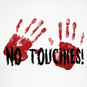 No Touchies 2 Bloody Hands Behind Black Text - T-shirt baseball manches longues Homme