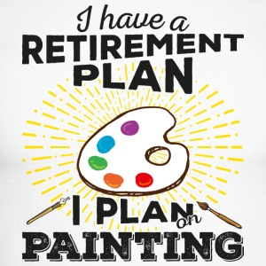 Retirement plan painting (dark) - Men's Long Sleeve Baseball T-Shirt