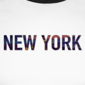new York - Men's Long Sleeve Baseball T-Shirt